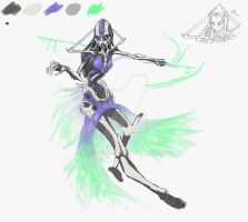 Warframe Fanconcept: Ghost Frame, wip by N4n0-1805