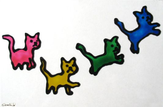 Progression of a Kitty by Rosalind