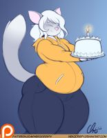 :Patreon Commission: Birthday Cake Rory by NekoCrispy