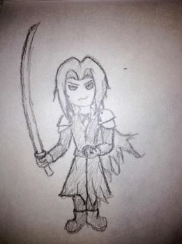Chibi Sephiroth by FlailingFrog