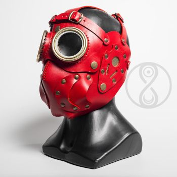 Overseer leather art mask by LahmatTea