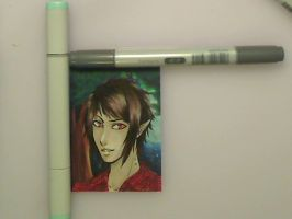 Marshall Lee ACEO #30 So what...? by Misax3Misa