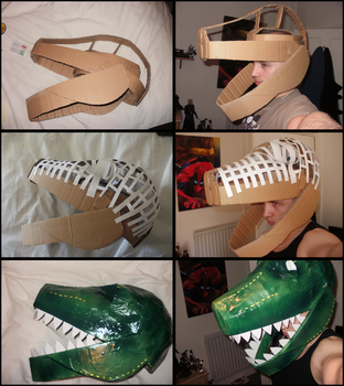 Dinosaur Mask Collage by Cypher7523