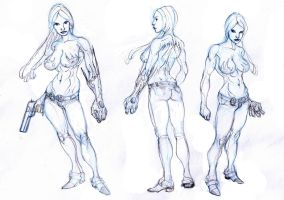 witchblade practice....rough by Selkirk