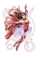Scarlet Witch colors by EDGARSALAZAR