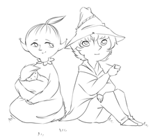 Mymble and Joxter sketch by Hennei