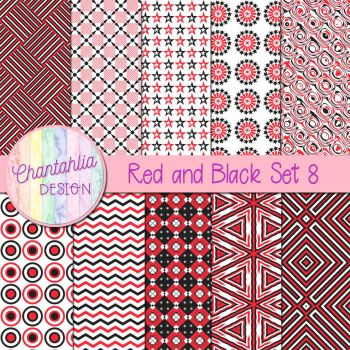 Red And Black Set 8 by Chantahlia