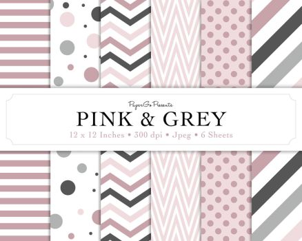 Digital Scrapbook Paper Pink And Grey By Ladysprinkles On Deviantart