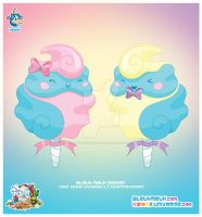 Kawaii Cotton Candy Couple by KawaiiUniverseStudio