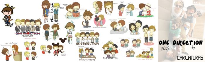 one Direction Pack's de Caricaturas png's by maarii03189