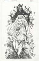 Lady Death: Devotions #1 Line art by KenHunt