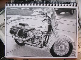 motorcycle by pitch-kee