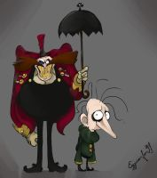 Dr Eggman and Snively but it's Tim Burton by EggmanFan91