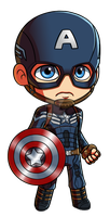 Captain America: Winter Soldier Chibi by Red-Flare