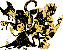 Bendy and the Impmon by CeruleanSunshine