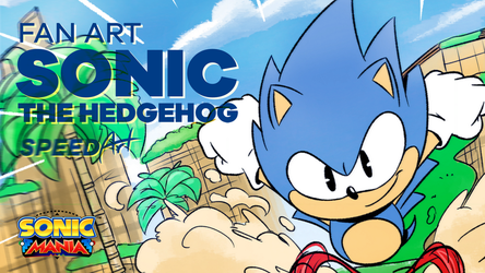 Sonic the Hedgehog - Speed Art by joaoppereiraus