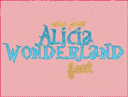 alicia wonderland font by adicctionforps