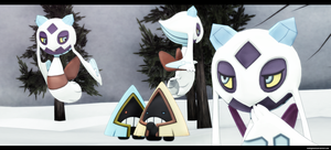 MMD Pokemon: Froslass and Snorunt by kaahgomedl