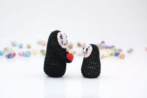 No-Face (tall and mini) by TheBittiestBaubles