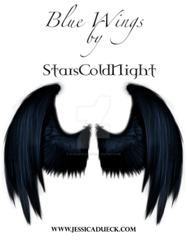 Blue angel wing PNG by StarsColdNight