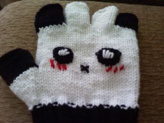Panda Gloves by aramintaXkazemaru