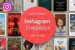72 Premium Instagram Templates For Photoshop by symufa