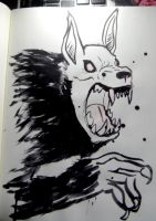 MM : Ink Wolf by wraithdragon
