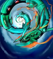 Mega Rayquaza by RoyaleMay