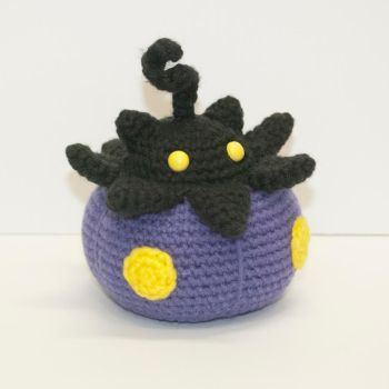 Shiny Pumpkaboo by Heartstringcrochet