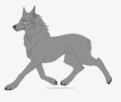 FREE Wolf Template 2.0 by miyuuma