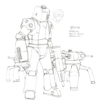 Unified Imperial Marine Centurion by Imperator-Zor