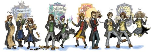 If my friends went to Hogwarts by lumikeiju