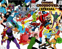 Cosmic Crossover Special #1 Wraparound Cover by roygbiv666