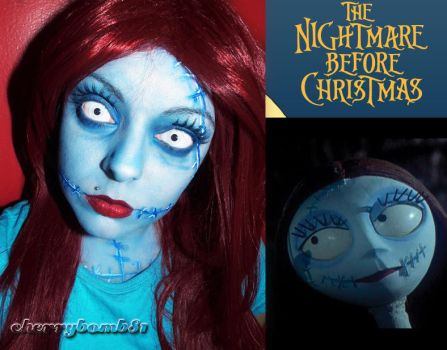 halloween makeup sally nightmare before christmas by cherrybomb 81 on deviantart - Sally From Nightmare Before Christmas Makeup
