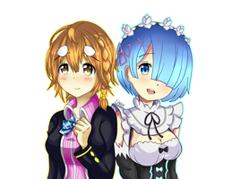 Yoshino And Rem by LarraLy