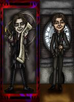 Rumpelstiltskin and Mr.Gold by callyrose