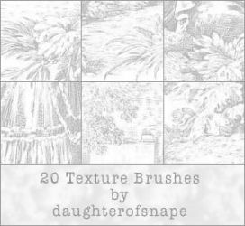 20 Texture Brushes by daughterofsnape