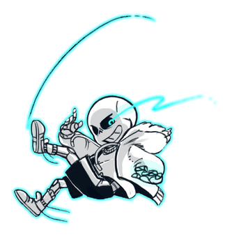 You can hear megalovania in the background by Kaweii