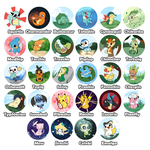 Pokemon buttons by OMGProductions
