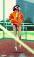 Orange Jacket by joslin