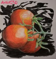 Art Class: Tomatoes in the Dark by ArtistGT