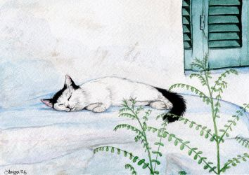 Catnap in Athens by rissdemeanour