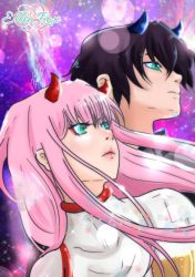 Hiro and Zero two by elyrosas