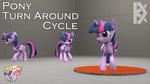 [SFM Ponies / DL] Pony Turn Around Cycle (female) by DamageK