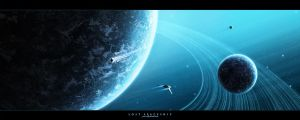 Lost spaceship by paul-cz