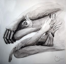 Study of the human hand by Flooboo