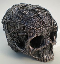 techno skull by richardsymonsart