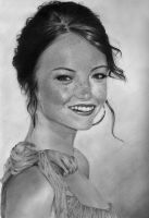 Emma Stone pencil drawing by PhotonLights