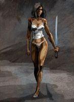 warrior woman by szalstudio