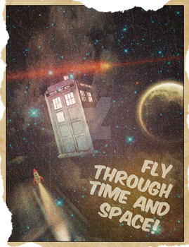 Retro Time and Space Travel Poster by VulpesvulpesLady